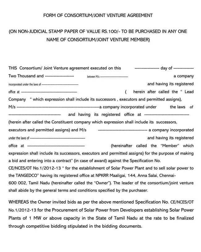Exclusivity agreement template this exclusivity agreement template can be used by a vendor to secure exclusive rights to provide goods or … 50 Free Joint Venture Agreement Templates Complete Guide