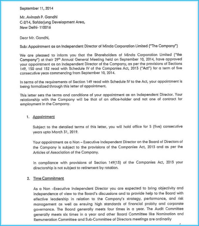 Letter Of Appointment Auditor 2017   Newsinvitation.co