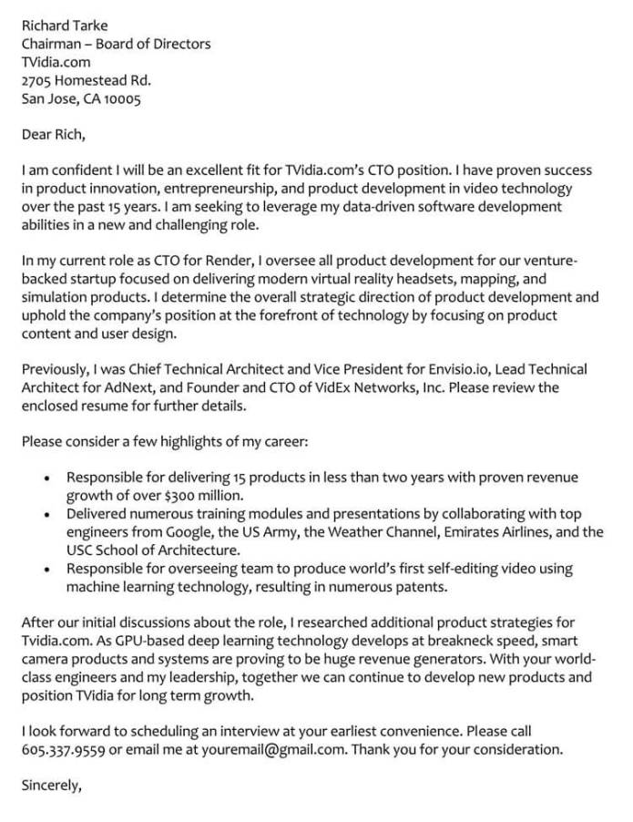 66 Cover Letter Samples How To Format With Examples