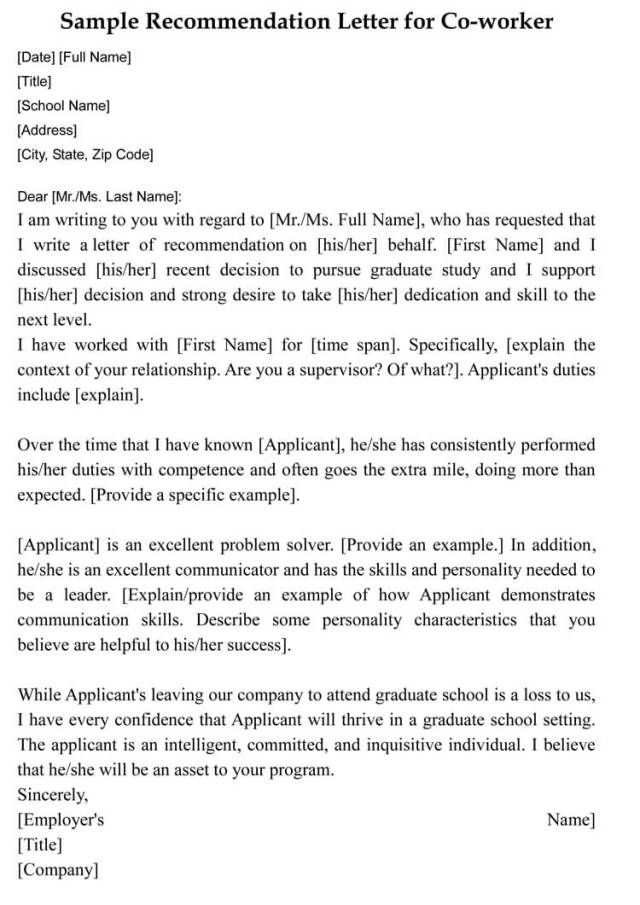 Letter of Recommendation for Coworker (5+ Sample Letters)