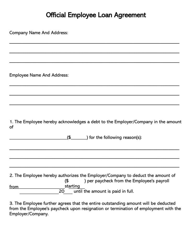 Irs payment plan or installment agreement: 38 Free Loan Agreement Templates Forms Word Pdf