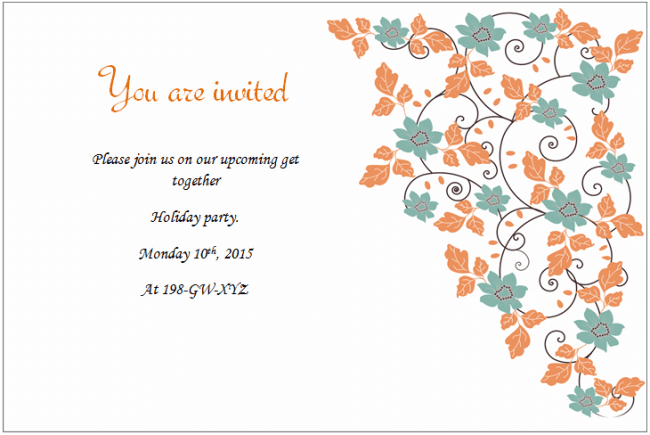 Holiday Invitation Templates Templates For Microsoft Word