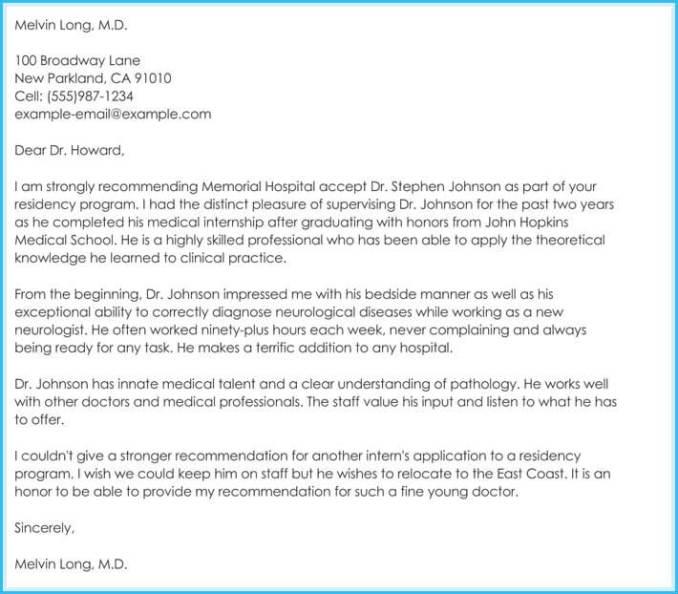 Internship letter of recommendation internship letters livecareer recommendation letter samples for doctors newsinvitation expocarfo Choice Image
