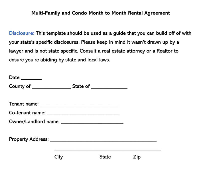 You can down load the template to prepare the month to month lease agreement form or to edit the template to prepare the new one. How To Find Month To Month Rentals