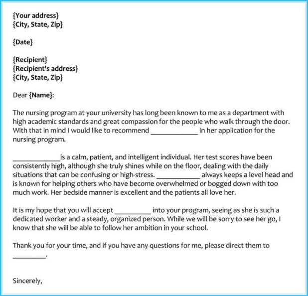 Nursing school recommendation letter from employer nursing school re nursing school recommendation letter reference letter examples 20 samples formats writing tips spiritdancerdesigns Choice Image