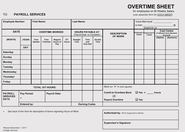 A time tracking spreadsheet is a very useful tool since you can utilize it in different situations and in different industries. Overtime Sheet Templates Weekly Monthly For Excel