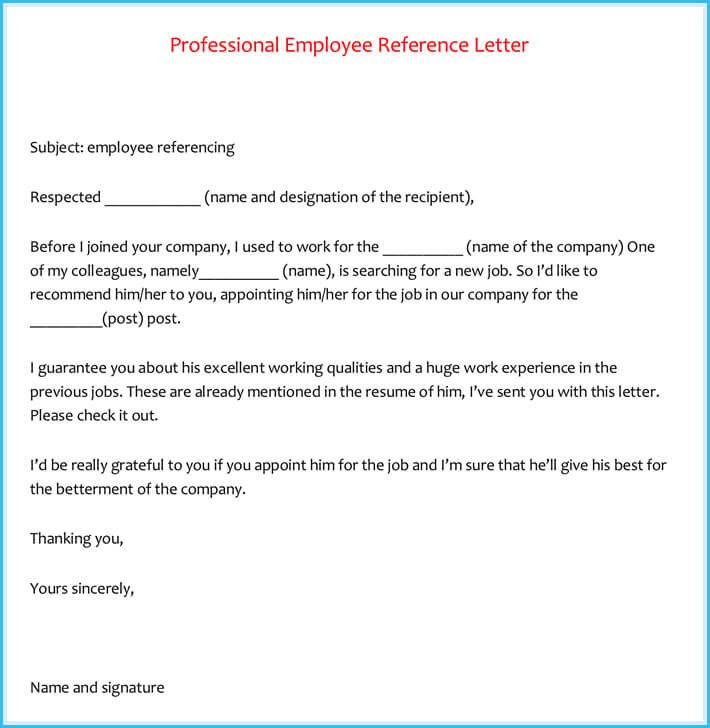 Sample Reference Letter Nursing Student