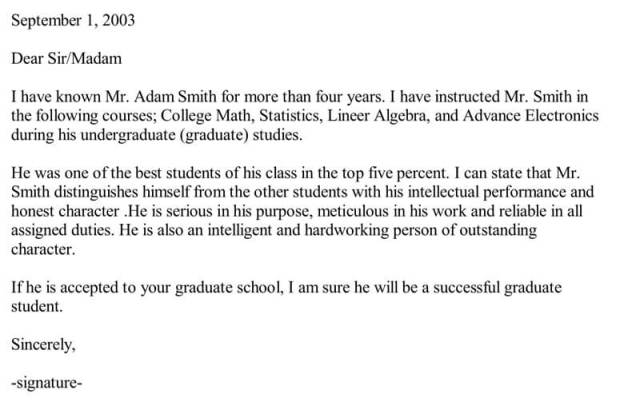 Recommendation Letter For Employment