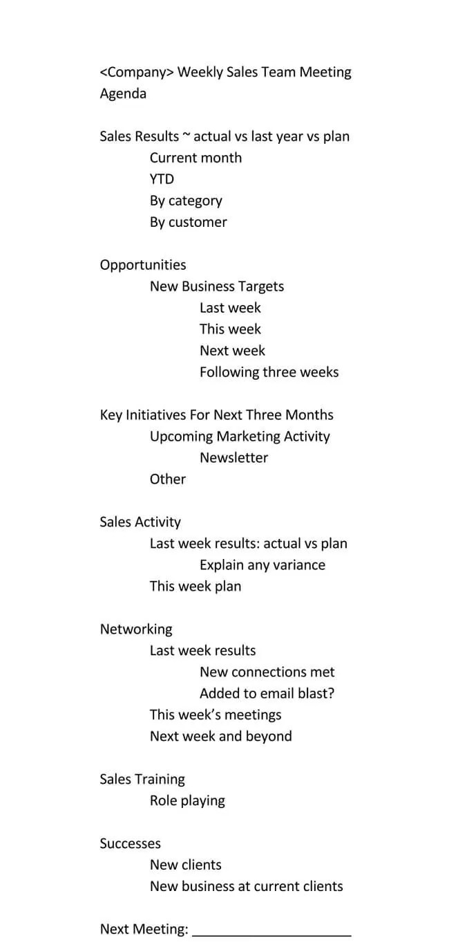 Fill in the text with more information. 101 Guide Of Weekly Meeting Agenda With Free Templates