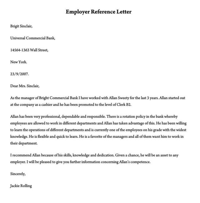 Character Reference Letter 30 Samples