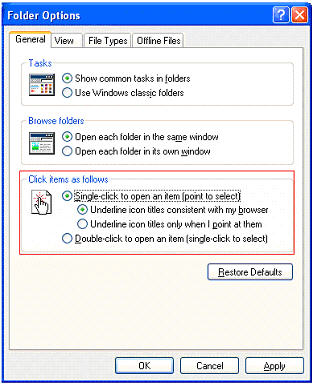 How To Open Document Folders With A Single, Not Double, Click