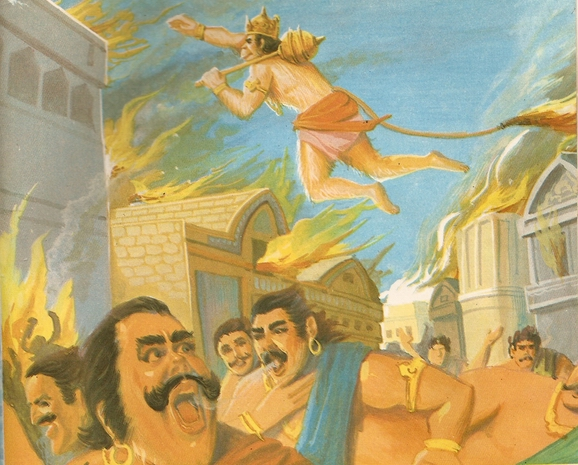 Ramayana Part-7  Lanka Dahan (21)