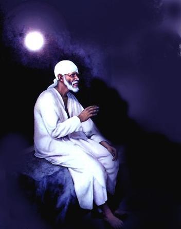 413_Sai_Baba_Painting_sitting_under_moon_thumb[2]