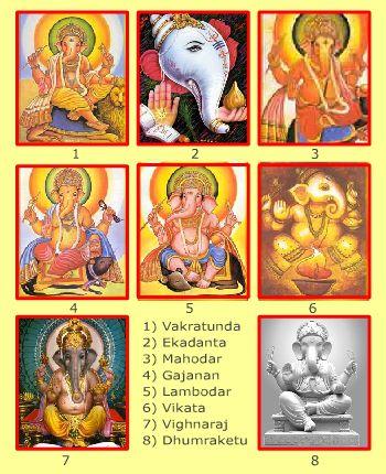 8 Avatars of Lord Ganesha - Eight Avatars Of Lord Ganesh