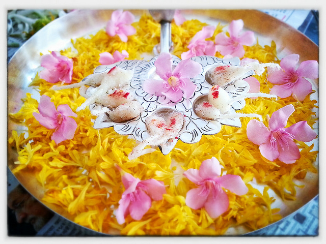 Flower-Decoration-Pooja