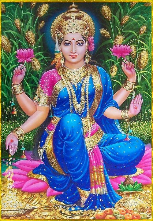 Lakshmi ~ Hindu Goddess of Beauty and Light. Manifestation of Abundance in all forms