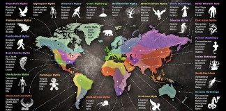 Map of World Mythology