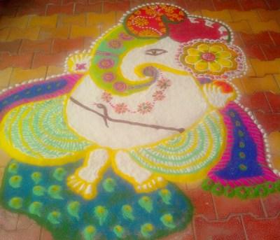 Ganesha Rangoli 11