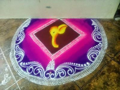 Ganesha Rangoli 16