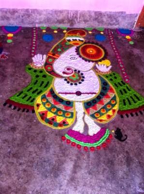 Ganesha Rangoli 24