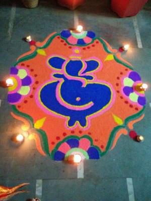 Ganesha Rangoli 23