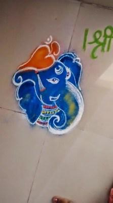 Ganesha Rangoli 34