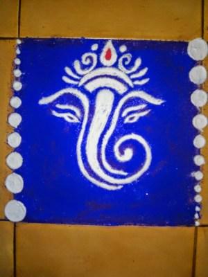 Ganesha Rangoli 38