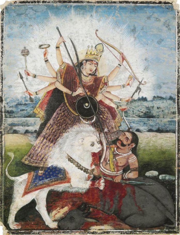 goddess-durga-painting
