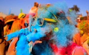 Holi celebrations colourful hd image