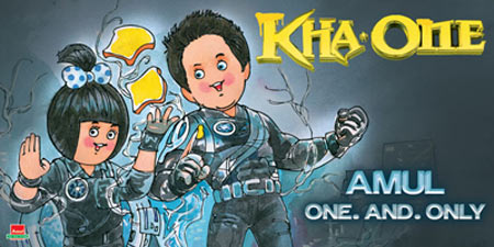 Amul's Ra.One poster