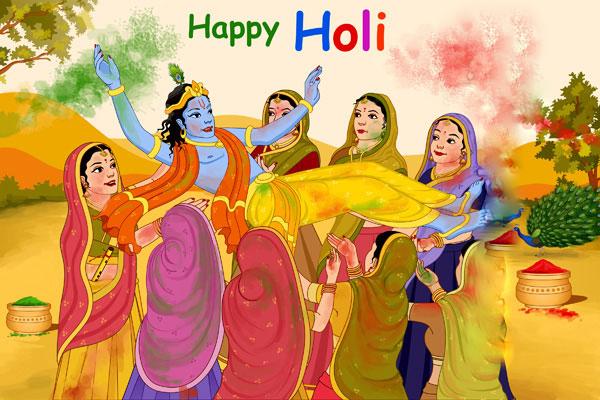 radha krishna on holi wallpapers free download wordzz