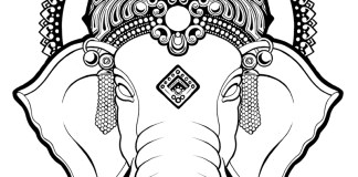 Beautiful Ganesh Logo
