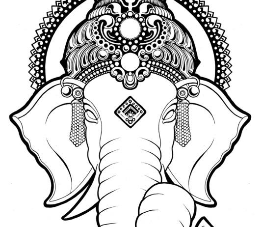 Beautiful Ganesh Logo
