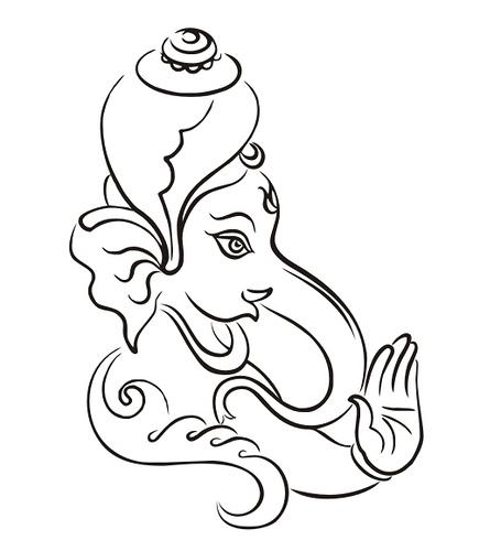 Ganesh Blessing Logo