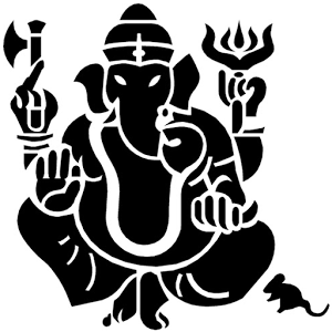 Ganesh with Mouse Vector