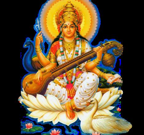 Saraswati-Free-PNG-Image