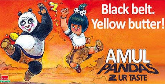 amul ad kun fu pandas - 50 Impressive Bollywood-Inspired Amul Ads!