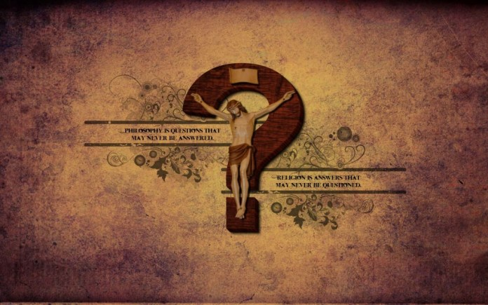 Lovely quotes of Atheism with Jesus wallpaper