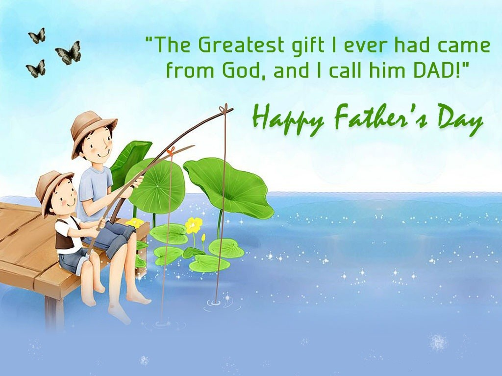 Beautiful greeting for fathers day