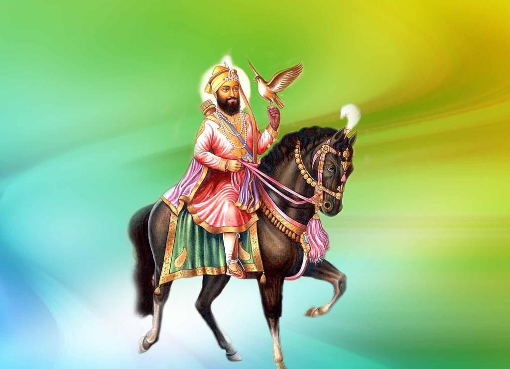 Guru Govind singh spiritual master riding horse
