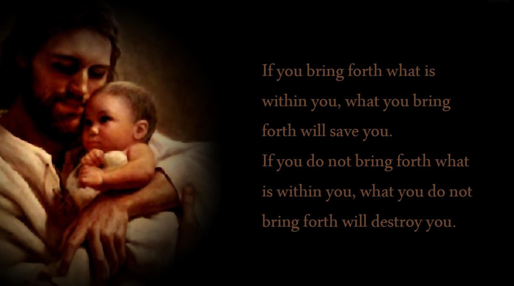 Jesus quotes with Jesus and cute baby image