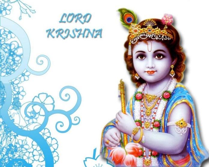 Lord Krishna in closeup image