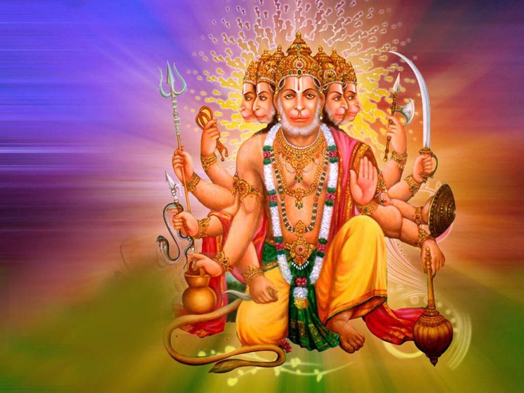 Pretty closeup image of Panchmukhi Hanuman for desktop
