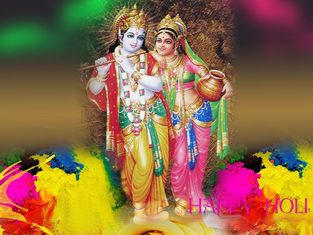 Lord Radha Krishna awesome holi wallpaper in HD