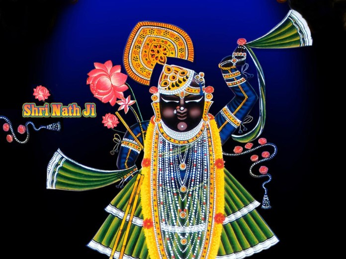 God Shreenathji colorful image