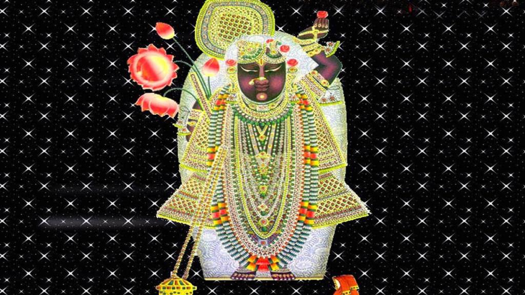 Shreenathji god image with 3d background