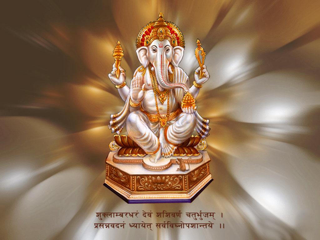 Awesome desktop background of God Siddhivinayak Ganpati