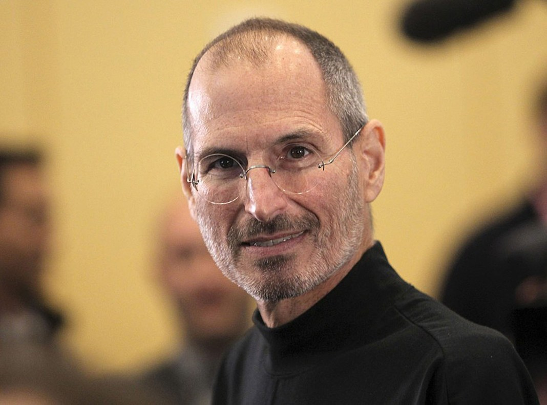 Lovely closeup picture of Steve Jobs for desktop background