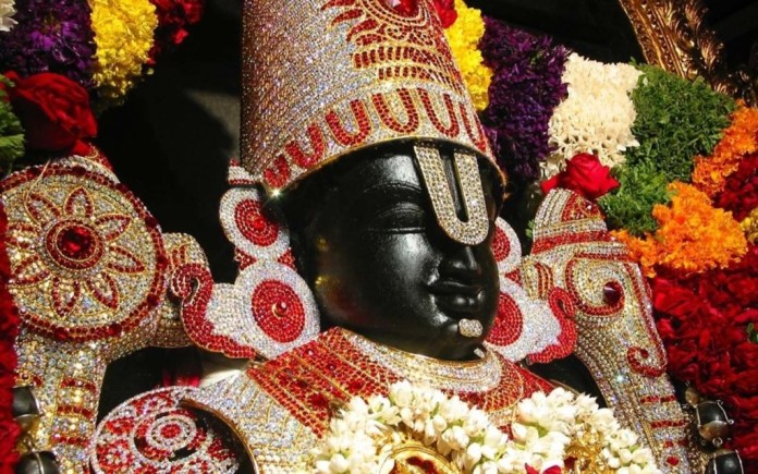 God Venkateswara closeup image