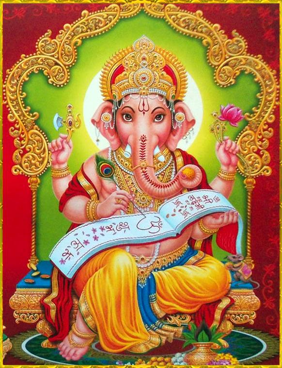 Lord Ganesha Writing